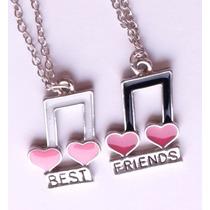 Colar Best Friends Unissex Notas Musicais