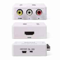 Mini Conversor Adaptador Hdmi Para Video Composto 3rca - Av