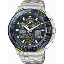 Relógio Citizen Jy0050-55l Blue Angels Skyhawk Titanium