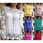 Camisa Blusa Feminina Lace Chiffon Renda Importad Frete Fixo