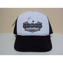 Boné Poker Academy Stars Snapback Trucker Frete Gratis