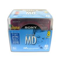 Md Mini Disc Sony Mdw80 Mdsony Caixa Lacrada Com 08 Unidades
