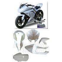 Kit Carenagem Pista Completo Ninja 300 Novo Nucleo Motos