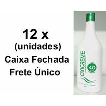 Kit Lánoly 12 Unidades Água Oxigenada 40 Volumes 950 Ml