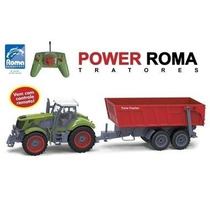 Trator Power Roma Basculante De Controle Remoto 1762 - Ro...