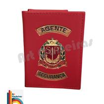 Carteira Porta Funcional Agente Segurança Estado Sp C1