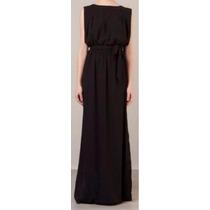 Vestido Longo Preto Marca Cori - Novo