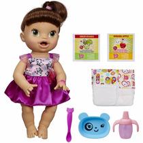 Boneca Bebê Baby Alive Morena - Hora De Comer - Hasbro