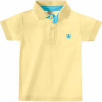 Polo Amarela Infantil Menino Camisa Polo Colorittá C 17643