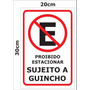 Placa Ps 2mm 20x30 Cm Proibido Estacionar
