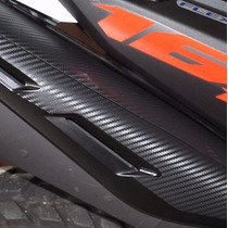 Kit Adesivo Carbono Escape Escapamento Moto Honda Bros 160