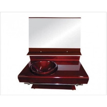 Gabinete De Vidro 70 Cm Banheiro Vermelho Vinho Ou Preto