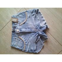 Short Hot Pants Com Detalhes Perolados, Ótimo Preço