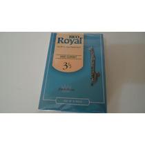 Palheta Para Clarone Baixo Rico Royal 3,5 Cx Com 10 Unidades