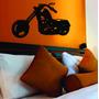 Quadro Em Mdf 3,0mm Vazado Moto Harley
