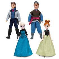 Elsa Anna Kristoff Hans 4 Bonecos 15cm Frozen Orig Disney
