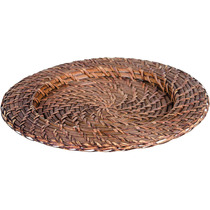 Sousplat Rattan Redondo 32cm C/6peças