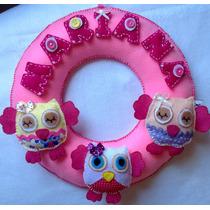 Guirlanda Porta Maternidade Bebê Menina Menino Rosa Azul