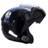 Capacete-Moto-Ebf-E8-Articulado-Robocop-Preto-Brilhoso