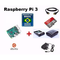 Kit Raspberry Pi 3 Pi3 Completo+fonte+sd32+case+sistema+diss