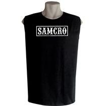 Camiseta Regata Machão Sons Of Anarchy Bandas De Rock Séries