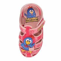 Sandalia Infantil Feminina Galinha Pintadinha Pink 17 Ao 26