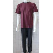 Pijama Masculino Algodão Manga Curta E Calça Longa