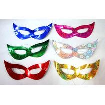 Kit 50 Máscara Gatinha Holográfica - Festa Casamento Balada