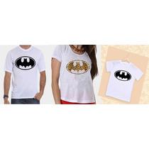 Camisetas Tal Pai, Tal Mãe E Tal Filho Batman