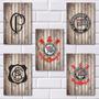 Placas Decorativas Mdf - Escudos Do Corinthians