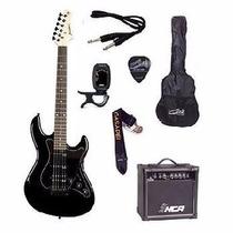 Kit Guitarra Strinberg Egs267 Bk + Amplificador + Acessórios
