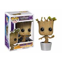 Miniatura - Dancing Groot - Marvel - Pop - Funko