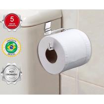 Suporte / Porta Papel Higiênico Para Caixa De Descarga Agua