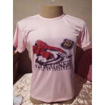 Camiseta Rosa Dj Wagner Rota 262 Tradicional Ou Baby Look