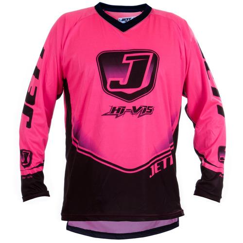 Camisa Motocross Enduro Trilha Pro Tork Jett Rosa Neon