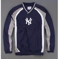 Blusa Corta Vento New York Yankees Mlb Pronta Entrega