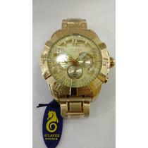 81cc913b5cf Busca Relógio Atlantis dourado com os melhores preços do Brasil ...