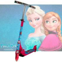 Patinete Frozen Infantil De 2 Rodas Em Gel