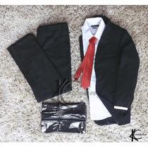 Terno Ternos Tradicional+camisa+gravata+capa Pronta Entrega