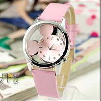 Relógio Mickey Crianças Mulheres Lindo Excelente Qualidade