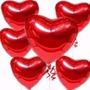 30 Balão Coração Vermelho 45cm Metalizado Bola Hélio Gas Sp