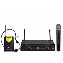 Microfone S/ Fio Duplo Bastão/headset Jwl U 585-h Como Shure