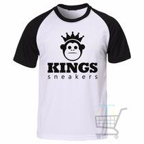 Camiseta Kings Sneakers Raglan Manga Curta - Frete Grátis