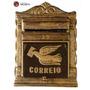 Caixa De Correio Jornal Revista Em Alumínio Fundido, Grande!