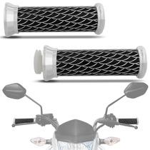 Manopla Para Guidão Pro Tork Skin Long Moto Universal Alumín