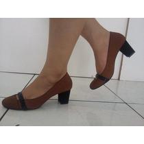Sapato De Couro Dolcci Salto Grosso (3616)