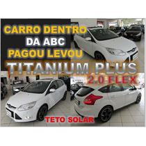 Focus Titanium Plus Com Teto Solar Ano 2015 - Baixo Km