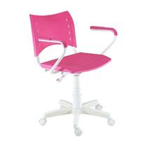 Cadeira Secretária Giratória Com Braço White