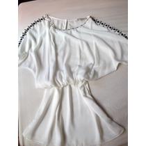 Vestido Cavendish Branco Com Aplicações