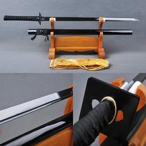 Espada Ninja Lâmina Galvanizada Ninjato Afiada Katana Negra